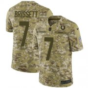 Wholesale Cheap Nike Colts #7 Jacoby Brissett Camo Youth Stitched NFL Limited 2018 Salute to Service Jersey