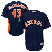 Wholesale Cheap Astros #43 Lance McCullers Navy Blue Cool Base 2019 World Series Bound Stitched Youth MLB Jersey