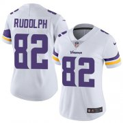 Wholesale Cheap Nike Vikings #82 Kyle Rudolph White Women's Stitched NFL Vapor Untouchable Limited Jersey