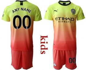Wholesale Cheap Manchester City Personalized Away Kid Soccer Club Jersey