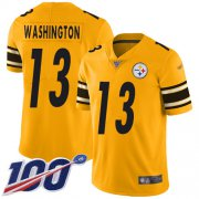 Wholesale Cheap Nike Steelers #13 James Washington Gold Men's Stitched NFL Limited Inverted Legend 100th Season Jersey