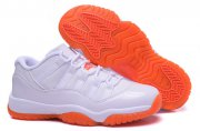 Wholesale Cheap Womens Air Jordan 11 Shoes White/orange