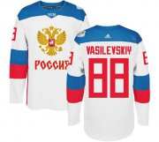 Wholesale Cheap Team Russia #88 Andrei Vasilevskiy White 2016 World Cup Stitched NHL Jersey