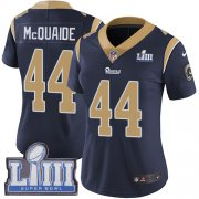 Wholesale Cheap Nike Rams #44 Jacob McQuaide Navy Blue Team Color Super Bowl LIII Bound Women's Stitched NFL Vapor Untouchable Limited Jersey