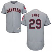 Wholesale Cheap Indians #29 Satchel Paige Grey Flexbase Authentic Collection Stitched MLB Jersey