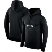 Wholesale Cheap Men's Philadelphia Eagles Nike Black Sideline Property Of Wordmark Logo Performance Pullover Hoodie