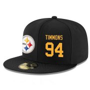 Wholesale Cheap Pittsburgh Steelers #94 Lawrence Timmons Snapback Cap NFL Player Black with Gold Number Stitched Hat