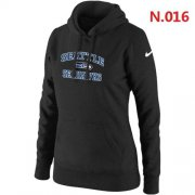 Wholesale Cheap Women's Nike Seattle Seahawks Heart & Soul Pullover Hoodie Black