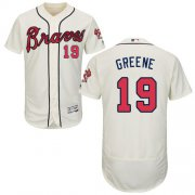 Wholesale Cheap Braves #19 Shane Greene Cream Flexbase Authentic Collection Stitched MLB Jersey
