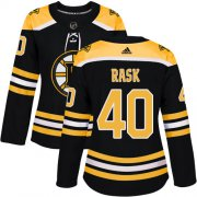 Wholesale Cheap Adidas Bruins #40 Tuukka Rask Black Home Authentic Women's Stitched NHL Jersey