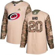 Wholesale Cheap Adidas Hurricanes #20 Sebastian Aho Camo Authentic 2017 Veterans Day Stitched Youth NHL Jersey