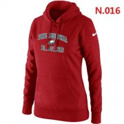 Wholesale Cheap Women's Nike Philadelphia Eagles Heart & Soul Pullover Hoodie Red