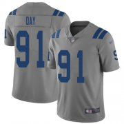 Wholesale Cheap Nike Colts #91 Sheldon Day Gray Men's Stitched NFL Limited Inverted Legend Jersey