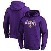 Wholesale Cheap Minnesota Vikings 2019 NFL Playoffs Bound Chip Shot Pullover Hoodie Purple