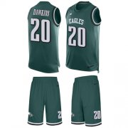 Wholesale Cheap Nike Eagles #20 Brian Dawkins Midnight Green Team Color Men's Stitched NFL Limited Tank Top Suit Jersey