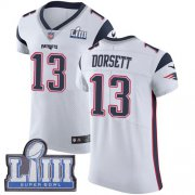 Wholesale Cheap Nike Patriots #13 Phillip Dorsett White Super Bowl LIII Bound Men's Stitched NFL Vapor Untouchable Elite Jersey