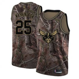 Wholesale Cheap Hornets #25 PJ Washington Camo Basketball Swingman Realtree Collection Jersey