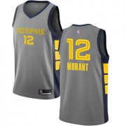 Cheap Youth Grizzlies #12 Ja Morant Gray Basketball Swingman City Edition 2018-19 Jersey