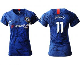 Wholesale Cheap Women\'s Chelsea #11 Pedro Home Soccer Club Jersey
