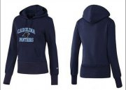 Wholesale Cheap Women's Carolina Panthers Heart & Soul Pullover Hoodie Blue