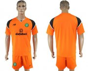 Wholesale Cheap Celtic Blank Orange Goalkeeper Soccer Club Jersey