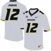 Wholesale Cheap Missouri Tigers 12 Johnathon Johnson White Nike College Football Jersey