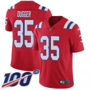Wholesale Cheap Nike Patriots #35 Kyle Dugger Red Alternate Youth Stitched NFL 100th Season Vapor Untouchable Limited Jersey