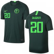 Wholesale Cheap Nigeria #20 Awaziem Away Soccer Country Jersey