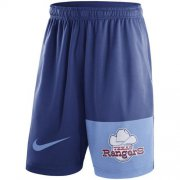 Wholesale Cheap Men's Texas Rangers Nike Royal Cooperstown Collection Dry Fly Shorts