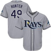 Wholesale Cheap Rays #49 Tommy Hunter Grey Cool Base Stitched Youth MLB Jersey
