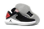 Wholesale Cheap Air Jordan 32 XXXI Low Shoes Black/Red-White-Gray Cement