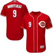 Wholesale Cheap Reds #9 Mike Moustakas Red Flexbase Authentic Collection Stitched MLB Jersey
