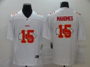Wholesale Cheap Men's Kansas City Chiefs #15 Patrick Mahomes White 2020 Shadow Logo Vapor Untouchable Stitched NFL Nike Limited Jersey