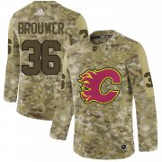 Wholesale Cheap Adidas Flames #36 Troy Brouwer Camo Authentic Stitched NHL Jersey