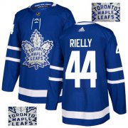 Wholesale Cheap Adidas Maple Leafs #44 Morgan Rielly Blue Home Authentic Fashion Gold Stitched NHL Jersey