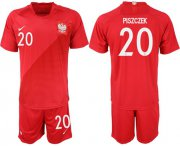 Wholesale Cheap Poland #20 Piszczek Away Soccer Country Jersey