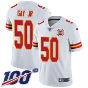 Wholesale Cheap Nike Chiefs #50 Willie Gay Jr. White Youth Stitched NFL 100th Season Vapor Untouchable Limited Jersey