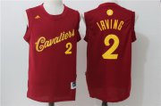 Wholesale Cheap Men's Cleveland Cavaliers #2 Kyrie Irving adidas Burgundy Red 2016 Christmas Day Stitched NBA Swingman Jersey