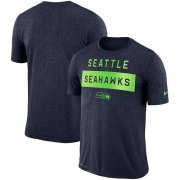 Wholesale Cheap Men's Seattle Seahawks Nike College Navy Sideline Legend Lift Performance T-Shirt