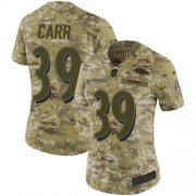 Wholesale Cheap Nike Ravens #39 Brandon Carr Camo Women's Stitched NFL Limited 2018 Salute To Service Jersey