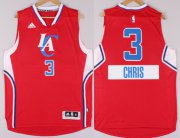 Wholesale Cheap Los Angeles Clippers #3 Chris Paul Revolution 30 Swingman 2014 Christmas Day Red Jersey