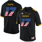 Wholesale Cheap Missouri Tigers 17 Richaud Floyd Black USA Flag Nike College Football Jersey