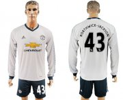 Wholesale Cheap Manchester United #43 Borthwick-Jackson Sec Away Long Sleeves Soccer Club Jersey