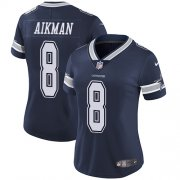Wholesale Cheap Nike Cowboys #8 Troy Aikman Navy Blue Team Color Women's Stitched NFL Vapor Untouchable Limited Jersey