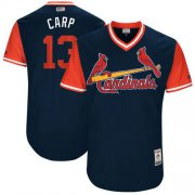"Wholesale Cheap Cardinals #13 Matt Carpenter Navy ""Carp"" Players Weekend Authentic Stitched MLB Jersey"