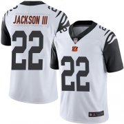 Wholesale Cheap Nike Bengals #22 William Jackson III White Men's Stitched NFL Limited Rush Jersey