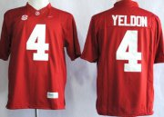 Wholesale Cheap Alabama Crimson Tide #4 T.J Yeldon 2014 Red Limited Jersey