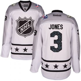 Wholesale Cheap Blue Jackets #3 Seth Jones White 2017 All-Star Metropolitan Division Women\'s Stitched NHL Jersey