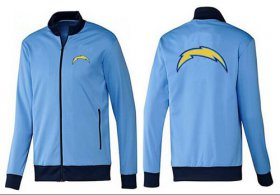 Wholesale NFL Los Angeles Chargers Team Logo Jacket Light Blue_1