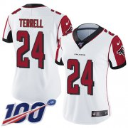 Wholesale Cheap Nike Falcons #24 A.J. Terrell White Women's Stitched NFL 100th Season Vapor Untouchable Limited Jersey